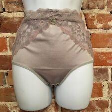 Rhonda Shear Gray Lace Inset Seamless Lt Control Brief Panties New