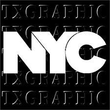 NYC Logo Sticker Decal New York City Vinyl Manhattan Empire State Trade Center