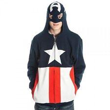 Authentic Captain America Marvel Comics Superhero Hoodie Sweat Shirt S-2Xl
