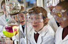 Alta Qualità Scuola Lab Coat, Bianco, chimica, in policotone, TUTA, Bambini, Kids