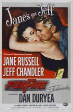 71295 Foxfire Movie Jane Russell, Jeff Chandler Wall Print Poster AU