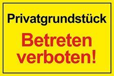Privatgrundstück - Betreten verboten - 300x210mm Schild oder Selbstklebeschild