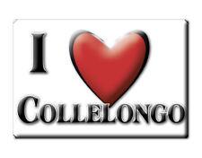 CALAMITA ABRUZZO ITALIA FRIDGE MAGNET MAGNETE SOUVENIR I LOVE COLLELONGO (AQ)