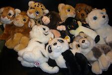 w-f-l TY WILD meilleur animal en tissu 25 cm choix lion tigre OURSON Pinguin