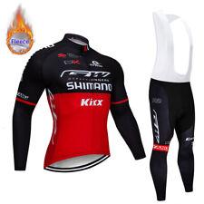 Homme Vêtements de Cyclisme Ensemble Molleton Thermique Maillot Bavettes Coussin