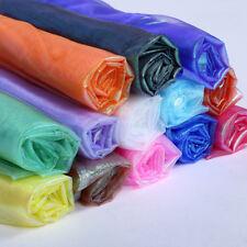 1X1.5m Two Tone Sheer Organza Fabric Iridescent Voile DIY Curtain Wedding Decor