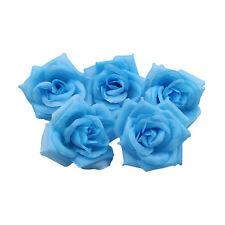DIY Light blue Artificial Rose Head Flower Bouquet Wedding Party Garland Decor