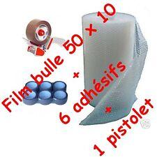 FILM A BULLES 50 x 10 PAPIER BULLE + adhesif + devidoir pour l'emballage & envoi