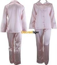 Pink Ladies Satin Pyjamas Silk Pjs Winter Pajamas Sleepwear Plus Sizes 6 to 26