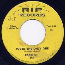 "EDDIE BO - ""YOU'RE THE ONLY""  b/w ""YOU'RE WITH ME"" on RIP (VG++)"