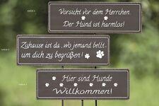 Schild Hund lackiert Dekoration Gartenstab Dekoration Wohnen Spruch 374800 Deko