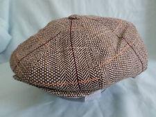 con visiera 8 pezzo cappello Grigio a macchioline color pesca 8-Pannello