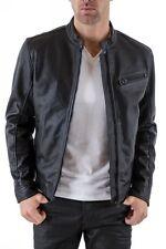 ★Giacca Giubbotto Uomo in PELLE 100% Men Leather Jacket Veste Homme Cuir R107c