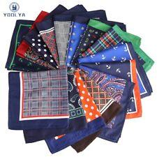 HOT!! 33 x 33CM Mans Plaid Anchor Pocket Square Hankies Big Size Handkerchief