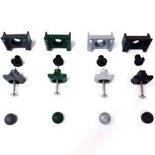 10 Stück Zaun Montage und Reparatursatz mit Dübel Doppelstabzaun  Farbauswahl