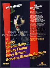 PAM GRIER__Original 1988 Trade AD promo__Foxy Brown_Friday Foster_Scream Blacula