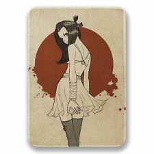 2 x Japanese Anime Girl Vinyl Sticker Car Travel Luggage #9738