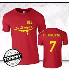 De Bruyne #7 Bélgica T-Shirt, Bélgica World Cup 2018 Ventilador T-shirt Camisa
