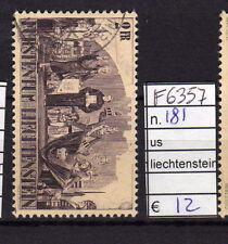 FRANCOBOLLI LIECHTENSTEIN USATI N°181 (F6357)