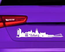 Aufkleber Erfurt Skyline mehrere Größen  11 Farben 2 Größen