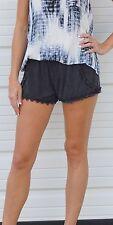 Faded Black Crochet Trim Dolphin Shorts S M L by Anama S16066