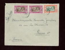 Airmail 1929 FRANCE cols.senegal suppléments sur couverture