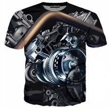Women Men Car Engine Gear 3D Print Casual T-Shirt Tee Short Sleeve Tops