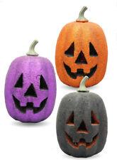 Zucca luminosa glitter multicolor hallowen nera viola arancione 21*13cm