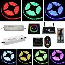 5-30m RGB LED Streifen Strip Leiste Band 12V 24V + Netzteil + wählb. Controller