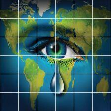 Adesivi piastrelle parete Occhio Pianeta Lacrima 1924