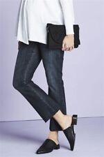 NEXT Dark Blue Maternity Crop Flare Raw Hem Jeans - BNWT