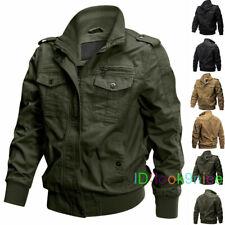 Men Military Cargo Jacket Cotton Vintage Coats Army MA-1 Airborne Bomber Jackets
