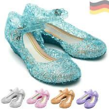 Princesa Niñas Tacón Zapatos ELSA FROZEN EL REINO DEL HIELO Disfraz de carnaval