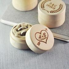 Personalized Rustic Wedding Ring Box , Ring bearer box, Custom ring pillow