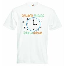 Worlds Cutest Alarm Clock Personalized Baby Boys Girls Unisex T-shirt Clothing