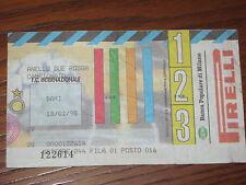 INTER BARI BIGLIETTO TICKET 1997/98 SERIE A