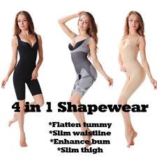Full Body Shaper Underbust Tummy Control Adelgazar Modeladora Entrepierna Abierta 0086