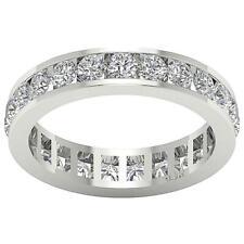 Real Diamond Eternity Wedding Ring 3.00Carat 14Kt White Gold Appraisal Size 4-12