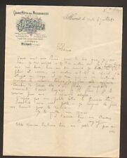 "MURAT (15) GRAND HOTEL DES MESSAGERIES ""A. COMBRE"" 1920"