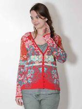 -30% Strickjacke Kooi Knitwear Gr. 38 40 42 44 46 rot weiß grün Baumwolle 2017