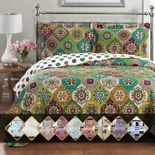 Luxury Bedding 2-3 Pieces Oversized Bedspread Coverlet Set Reversible Bed Quilt