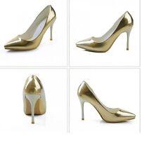 scarpe Decolté donna colore oro  tacco a spillo 10 cm cod 8234