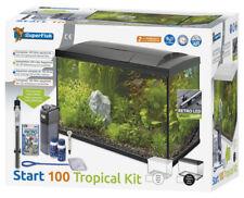 Superfish Start 100 Complete Tropical Aquarium Fish Tank Set 105L Black or White