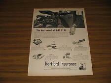 1947 Vintage Ad Hartford Insurance Man Killed in Car Accident Fatal
