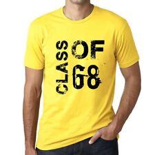Class of 68 Grunge Homme T-shirt Jaune Cadeau D'anniversaire
