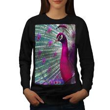 Peacock Animal Paint Women Sweatshirt NEW | Wellcoda