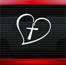 Cross Heart #2 Christian Car Decal Truck Window Vinyl Sticker Jesus (20 COLORS!)