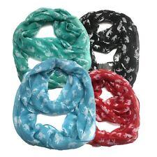 Top Fashionland Premium Soft Cute Elephant Sheer Infinity Scarf