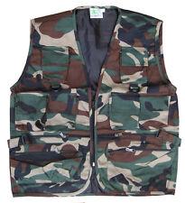 Para Hombre De Combate Del Ejército Militar Cintura Abrigo Hunter Assault Tactical Chaleco chaqueta de camuflaje