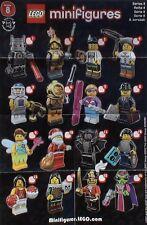 LEGO® Figuren Serie 8 - 8833 - Auswahl - NEU/OVP oder ZIP Tüte